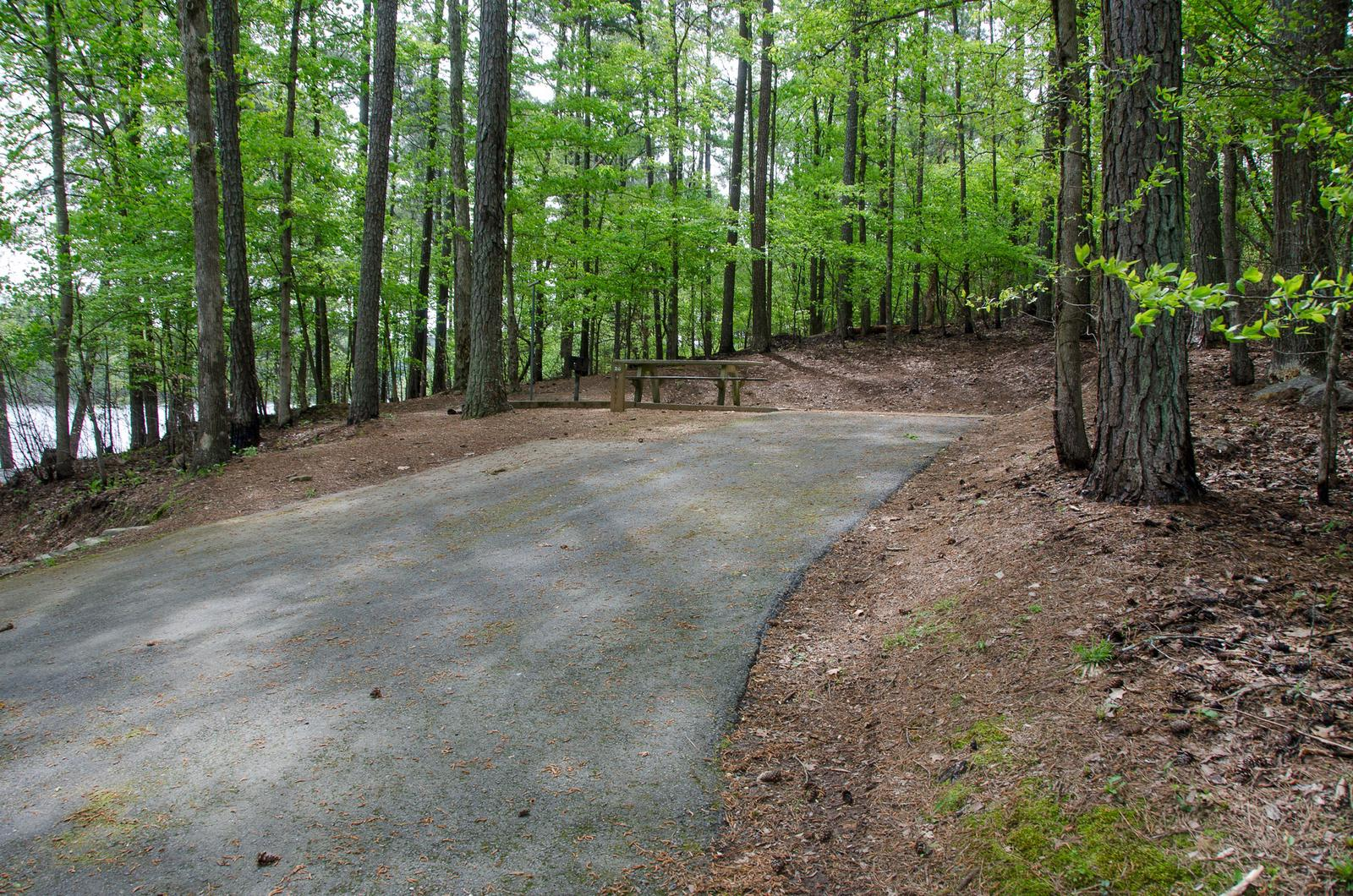 Driveway slopeMcKaskey Creek Campground, campsite #26