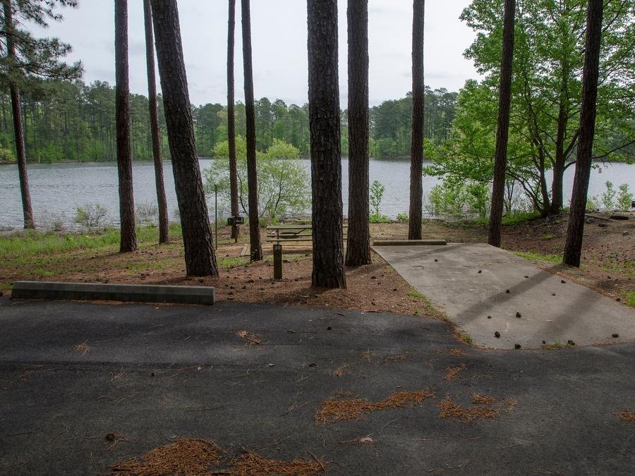 Driveway, campsite view, #019McKaskey Campground, campsite #029
