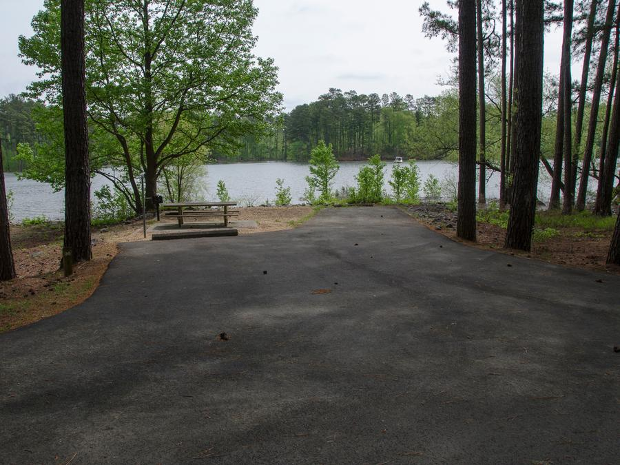 Driveway, campsite view, #030McKasky Campground, campsite #030