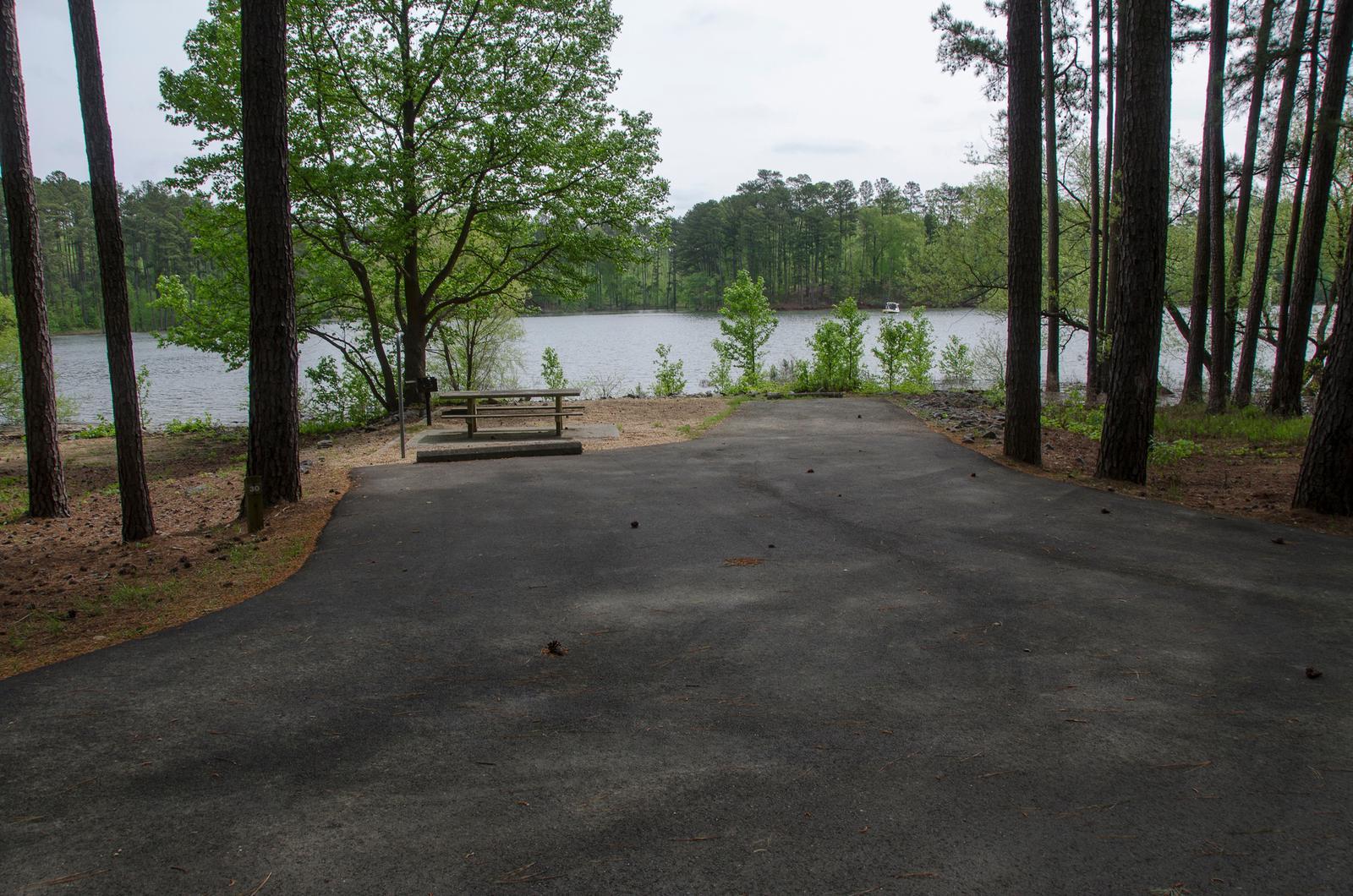Driveway slopeMcKaskey Creek Campground, campsite #30