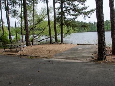 Campsite view..McKaskey Creek Campground, campsite #31