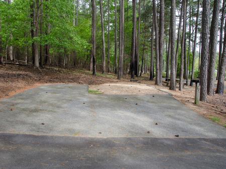 Driveway slopeMcKaskey Creek Campground, campsite #32