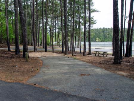 Driveway slopeMcKaskey Creek Campground, campsite #33