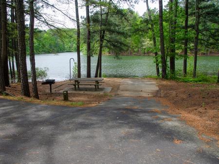 Driveway slopeMcKaskey Creek Campground, campsite #38
