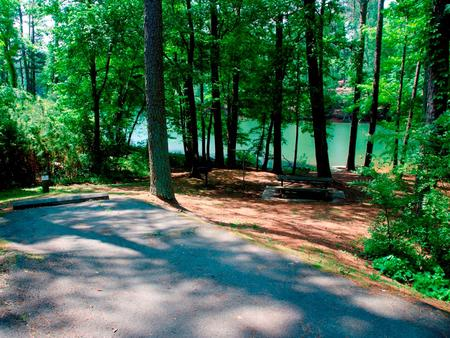 Driveway slopeMcKaskey Creek Campground, campsite #42