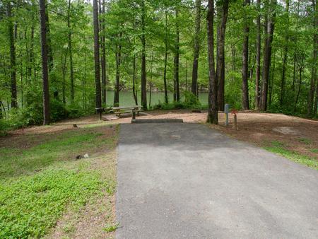 Driveway slopeMcKaskey Creek Campground, campsite #43