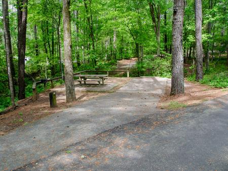 Driveway slopeMcKaskey Creek Campground, campsite #45
