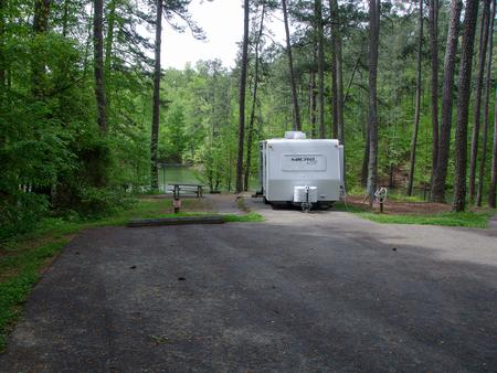 Driveway slopeMcKaskey Creek Campground, campsite #48