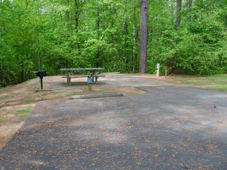 Driveway slopeMcKaskey Creek Campground, campsite #49