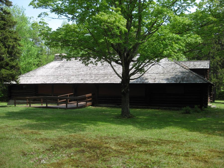 Dolly Copp VIS Building; constructed by the Civilian Conservation Corps in 1934