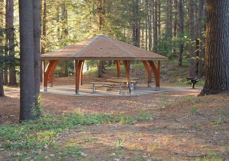 Buffumville Lake ParkShelter site 002, 8 tables, 1 large grill, electricity