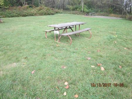 Loft Mountain Campground - Site 49Picnic table on campsite
