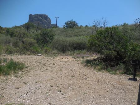 Flat, gravel tent area
