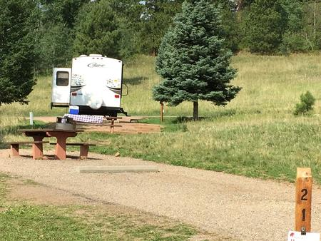 A sample picture of an RV site at La Vista Campground