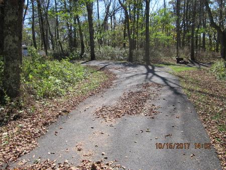 Loft Mountain Campground - Site A62Site driveway