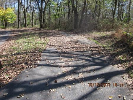 Loft Mountain Campground - Site A66Site driveway