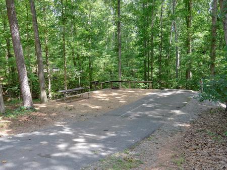 Driveway slopeMcKinney Campground Site 13