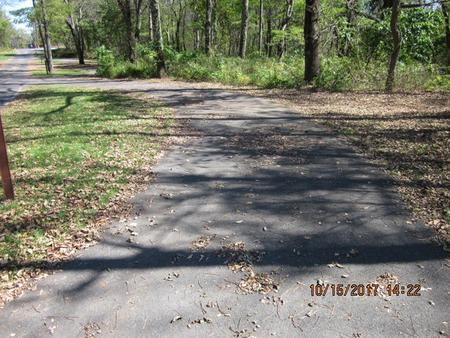 Loft Mountain Campground - Site A70Site driveway
