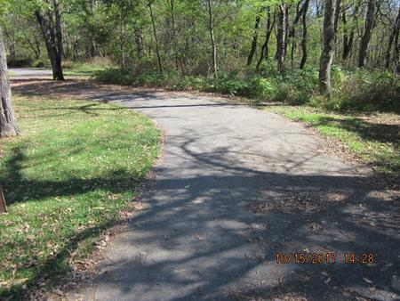 Loft Mountain Campground Site A72Site driveway