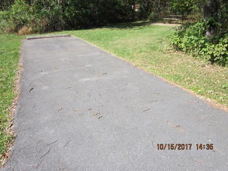 Loft Mountain Campground - Site A76Site driveway