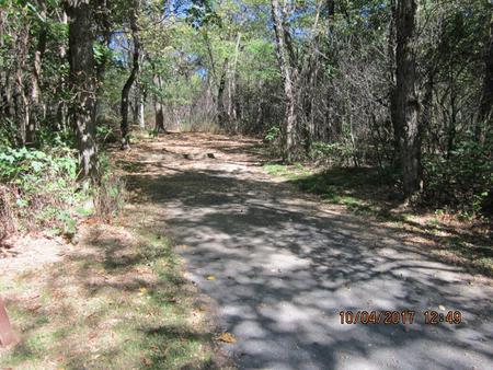Loft Mountain Campground - Site C103Site driveway
