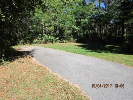 Loft Mountain Campground - Site C107Site driveway