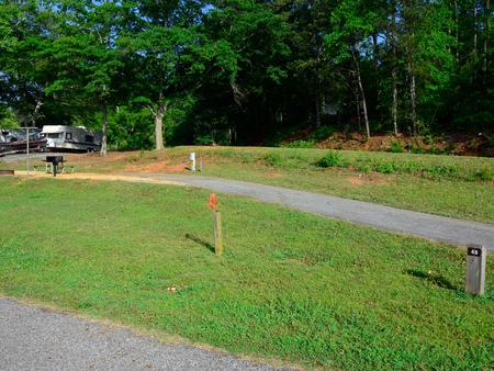 Driveway slope.Sweetwater Campground, campsite 48.