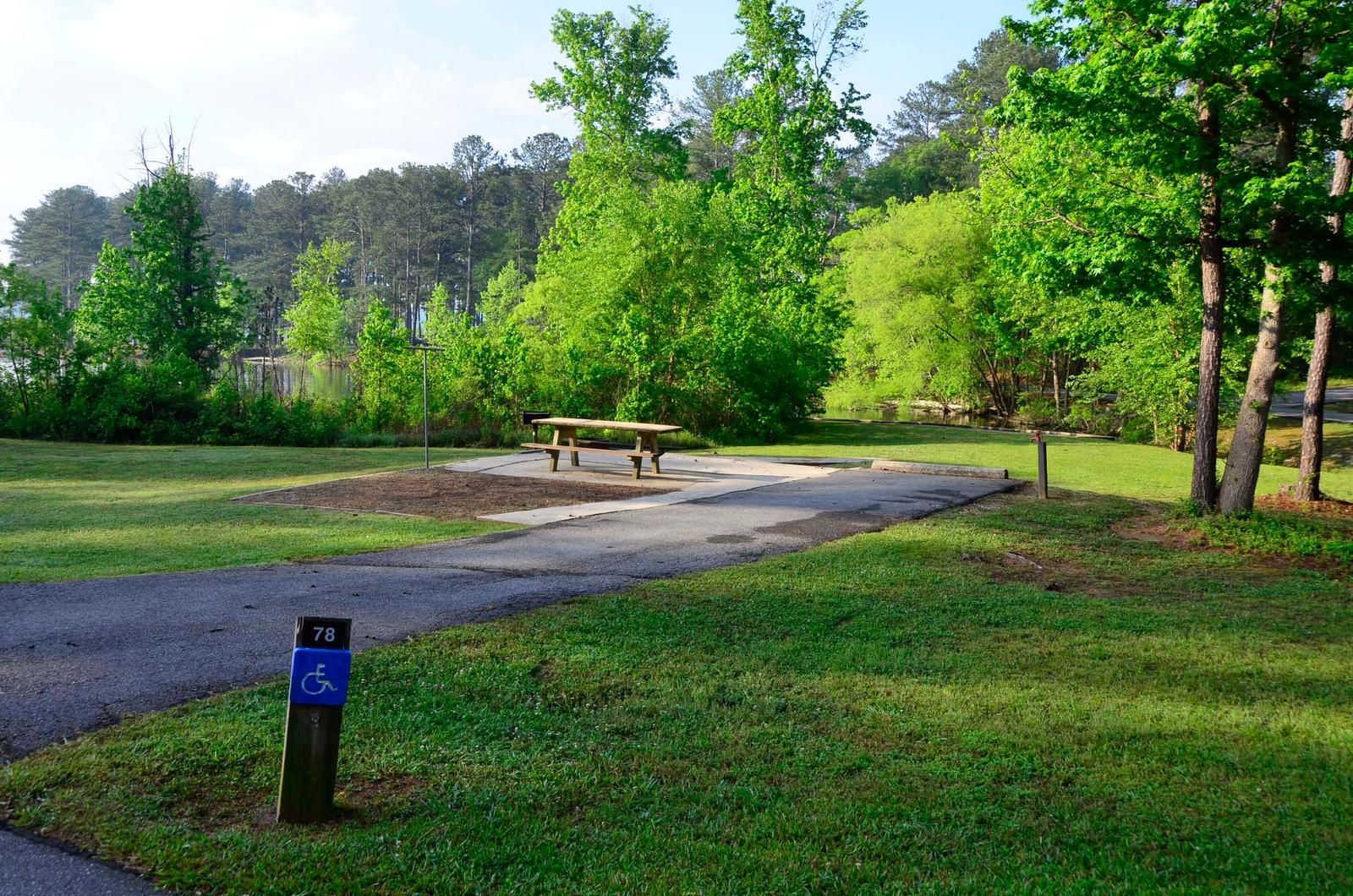 Sweetwater Campground, campsite #78.
