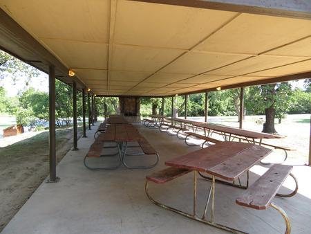 Group Shelter in Longdale CampgroundLongdale Campground Group Shelter