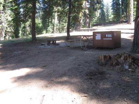 Site 86, no generator loop, partial shade, Site 86 no generator loop, partial shade