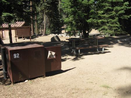 Site 92, no generator loop, partial shade, near restrooms