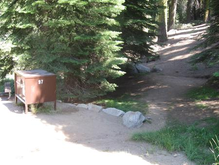 site 97, no generator loop, partial shade, near creek, not level site