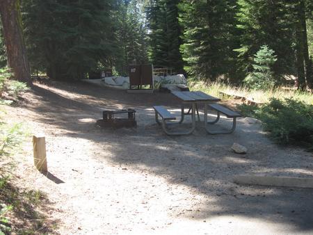 site 117, no generator loop, no tent site, partial shade, near restrooms