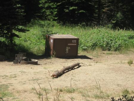 site 122, no generator loop, partial shade, near meadow, near restrooms