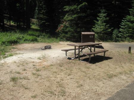 site 123, no generator loop, sunny, near meadow