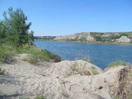 Missouri River Shoreline at the Downstream Campground