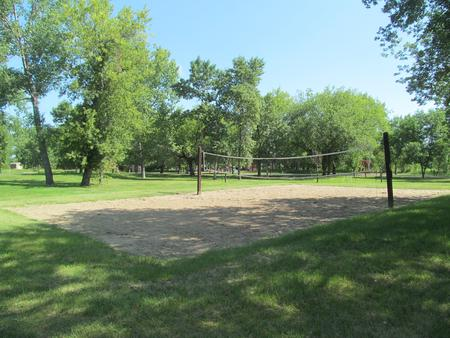 Volleyball Court at the Downstream Campground