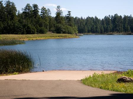 Lake with boat ramplake access
