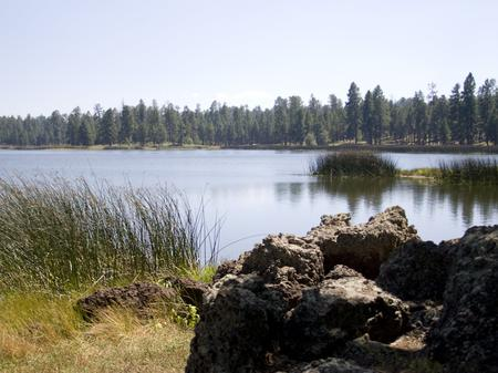 Lake and rock White Horse Lake