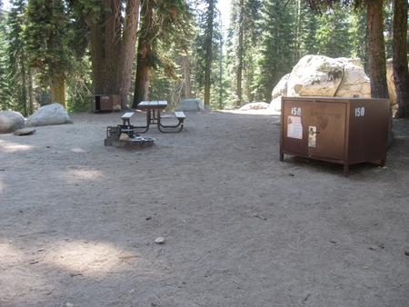 site 150, partial shade, near restrooms