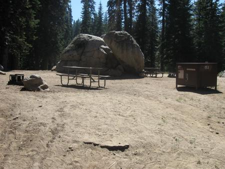 site 153, sunny, near restrooms
