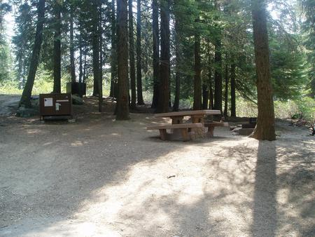 Site #99  Steep hillside.  Camper recommended
