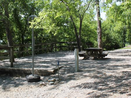 A photo of Site 081 of Loop FMIP at FLOATING MILL PARK with Tent Pad