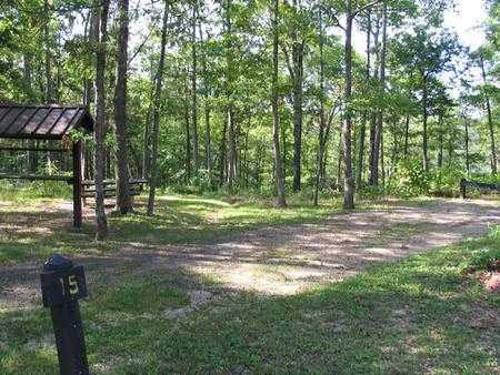 Campsite 15 is close to playfield and vault toilet.Campsite 15