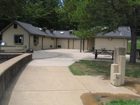 Recently remodeled bathhouse.