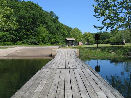 View of boat dock facing ramp.Excellent launching and docking facilities for boats.