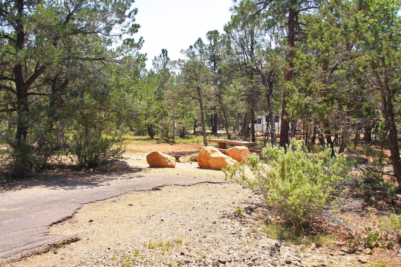 Picnic table, fire pit, and parking spot, Mather CampgroundPicnic table, fire pit, and parking spot for Juniper Loop 109, Mather Campground