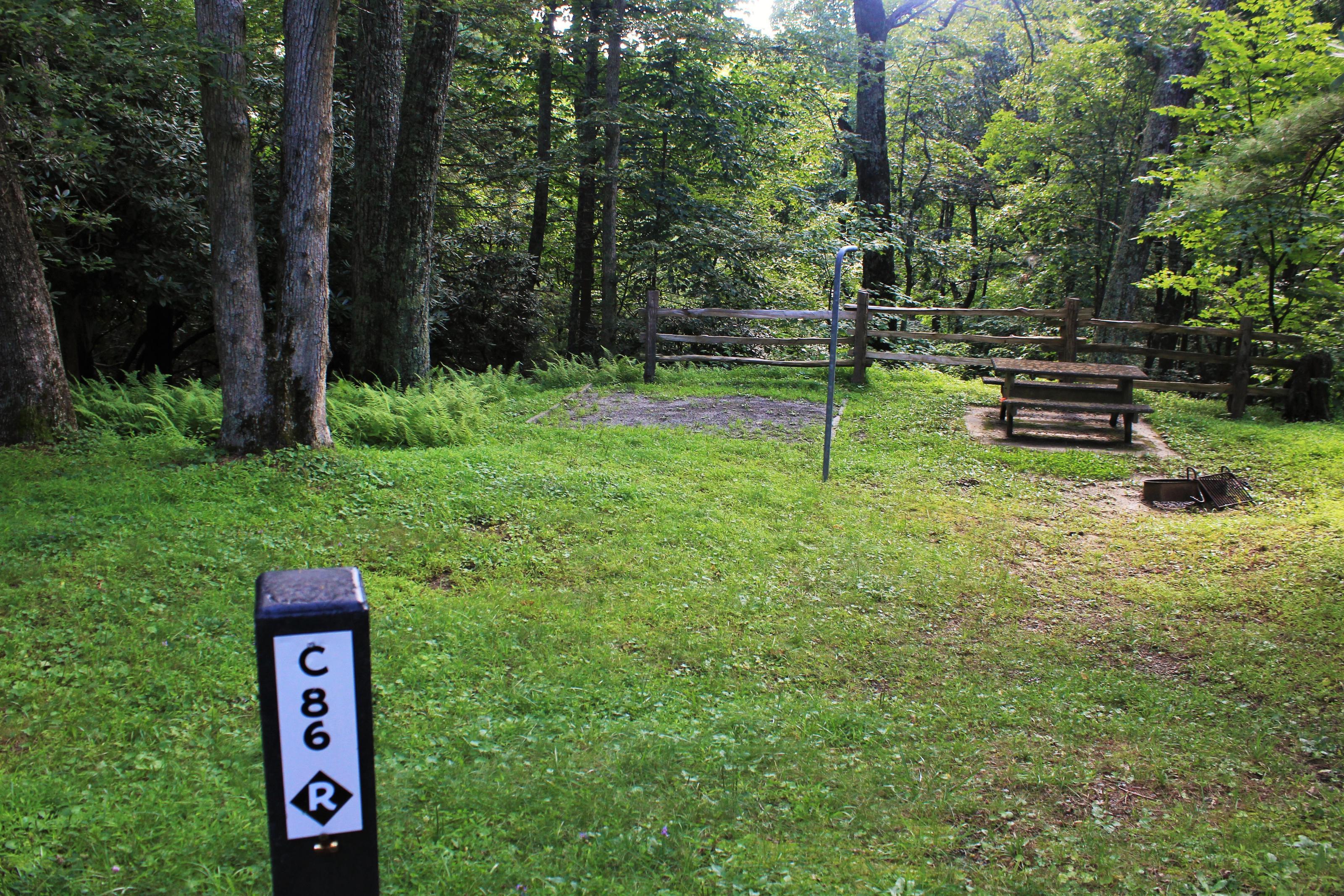C86 Tent Site Photo
