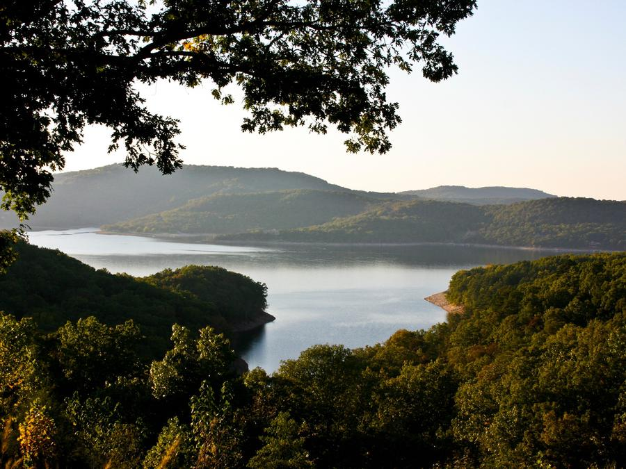Beaver Lake with surrounding forest landscapeBeaver Lake