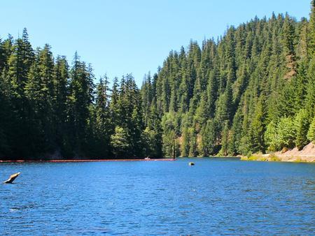 Lake Harriet reservoir with buoysLake Harriet reservoir